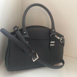 Tignanello Grey Saffiano Leather Purse Crossbody